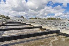 Tanque de aeração com águas residuais Foto de Stock Royalty Free