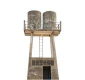Tanque de armazenamento da água isolado no fundo Imagem de Stock Royalty Free