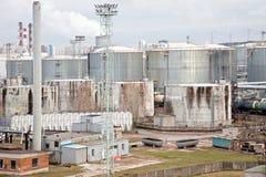 Tanque de armazenamento do óleo Fotos de Stock