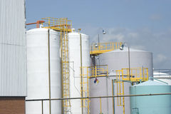 Tanque de armazenamento químico Fotografia de Stock