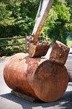 Tanque de armazenamento subterrâneo do petróleo. Imagens de Stock Royalty Free