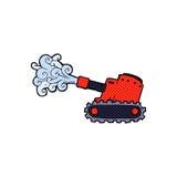 tanque de exército cômico dos desenhos animados Imagens de Stock Royalty Free
