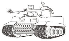 Tanque de exército da coloração ilustração do vetor
