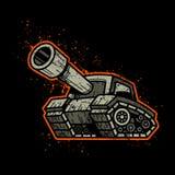 Tanque de exército dos desenhos animados Fotos de Stock Royalty Free