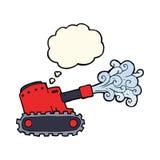 tanque de exército dos desenhos animados com bolha do pensamento Imagem de Stock Royalty Free