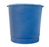 Tanque de fibra de vidro da água azul isolado no fundo branco, grampeando Fotos de Stock Royalty Free
