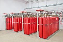 Tanque de gás vermelho Foto de Stock Royalty Free