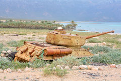 Tanque de guerra soviético T-34 Imagens de Stock