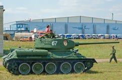 Tanque de guerra T-34 histórico Fotografia de Stock Royalty Free