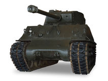 Tanque de M4 Sherman no branco imagens de stock