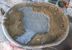 Tanque do cimento - misturador de cimento fotografia de stock