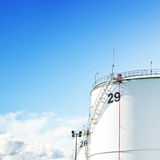 Tanque do gás e de óleo fotos de stock