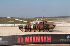 Tanque do Mongolian T-72B1 Fotografia de Stock