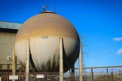 Tanque do nitrogênio na fábrica, North Yorkshire Fotos de Stock