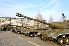 Tanque do russo - memorial à vitória no WWII Fotografia de Stock Royalty Free