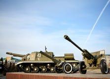 Tanque do russo - memorial à vitória no WWII Imagem de Stock Royalty Free