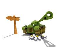 Tanque dos desenhos animados Imagens de Stock