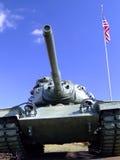 Tanque e bandeira da segunda guerra mundial Foto de Stock Royalty Free
