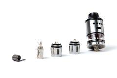 Tanque e bobinas eletrônicos do cigarro Foto de Stock