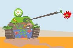 Tanque engraçadamente decorado Fotografia de Stock Royalty Free