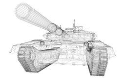 Tanque militar Fotografia de Stock Royalty Free