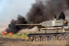 Tanque militar, tipo velho, WWII   Imagens de Stock