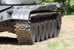 Tanque no campo de batalha Fotografia de Stock