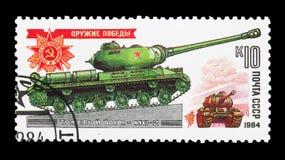 Tanque pesado IS-2, serie dos veículos blindados da segunda guerra mundial, cerca de 198 Foto de Stock