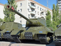 Tanque IS-2 pesado soviético Imagens de Stock Royalty Free