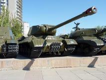 Tanque IS-2 pesado soviético Fotografia de Stock