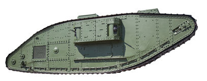Tanque retro isolado Fotografia de Stock