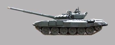 Tanque soviético coberto com a neve Fotos de Stock