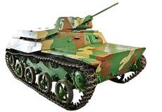 Tanque soviético T-30 da infantaria clara isolado Foto de Stock Royalty Free