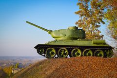 Tanque soviético T-34 da segunda guerra mundial foto de stock royalty free