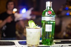 Tanqueray Green Gin Royalty Free Stock Images