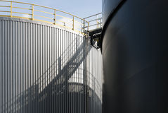 Tanques de óleo em Amsterdão Foto de Stock Royalty Free