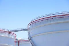 Tanques de armazenamento do óleo Imagens de Stock