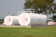 Tanques de armazenamento do combustível Foto de Stock Royalty Free