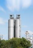 Tanques de armazenamento do gás natural Imagem de Stock Royalty Free