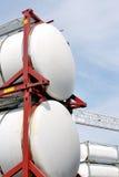 Tanques de armazenamento portáteis do petróleo e do produto químico Foto de Stock
