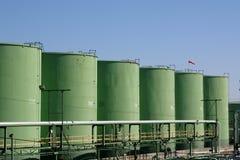 Tanques de armazenamento químicos Fotografia de Stock Royalty Free