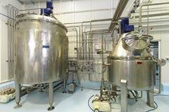 Tanques de fermentação Fotografia de Stock