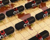 Tanques de petróleo Imagem de Stock Royalty Free