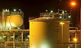 Tanques de petróleo Imagem de Stock