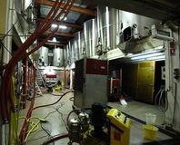 Tanques do fermenation do vinho Imagem de Stock
