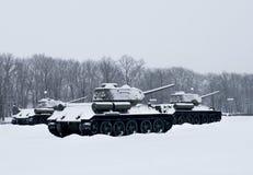Tanques do russo Fotografia de Stock