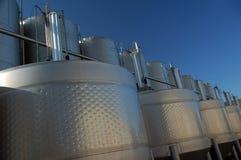 Tanques do vinho do aço inoxidável Fotos de Stock