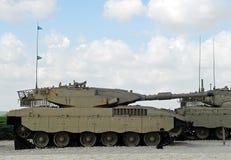 Tanques israelitas modernos de Merkava Imagem de Stock