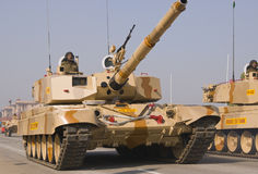 Tanques na parada Fotografia de Stock