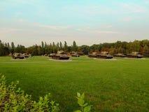 Tanques no complexo memorável Foto de Stock
